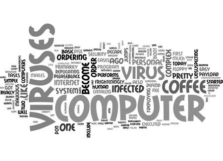 WHAT IS COMPUTER VIRUS TEXT WORD CLOUD CONCEPT Illustration
