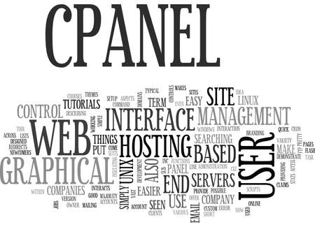 WHAT IS CPANEL TEXT WORD CLOUD CONCEPT Illustration