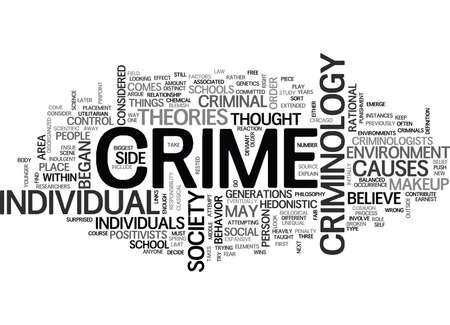 WHAT IS CRIMINOLOGY TEXT WORD CLOUD CONCEPT