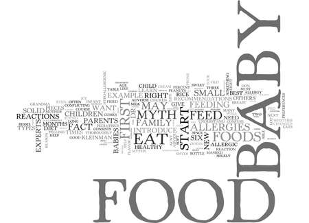WHAT DO I FEED MY BABY TEXT WORD CLOUD CONCEPT Çizim