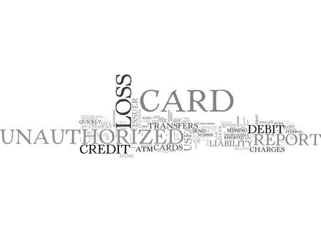 issuer: WHAT DO YOU DO IF YOUR CREDIT OR DEBIT CARD IS LOST OR STOLEN TEXT WORD CLOUD CONCEPT Illustration