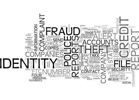 WHAT DO YOU DO IF YOUR IDENTITY S BEEN STOLEN TEXT WORD CLOUD CONCEPT Illusztráció