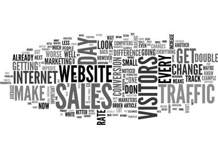 WHAT DO YOU DO WITH YOUR WEB SITE TRAFFIC TEXT WORD CLOUD CONCEPT Illustration