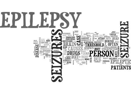 WHAT DO YOU NEED TO KNOW ABOUT EPILEPSY TEXT WORD CLOUD CONCEPT Illusztráció