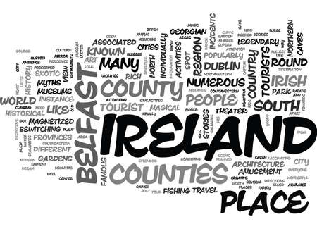 WHAT DO YOU NEED TO KNOW ABOUT IRELAND TRAVEL TEXT WORD CLOUD CONCEPT