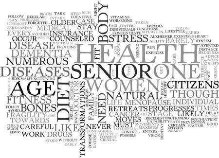 WHAT DO YOU NEED TO KNOW ABOUT SENIOR S HEALTH TEXT WORD CLOUD CONCEPT