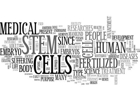 WHAT DO YOU NEED TO KNOW ABOUT STEM CELLS TEXT WORD CLOUD CONCEPT