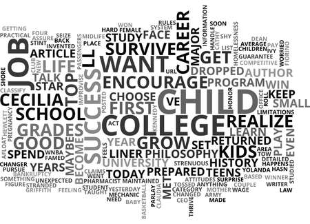WHAT DO YOU WANT TO BE WHEN YOU GROW UP TEXT WORD CLOUD CONCEPT Ilustrace