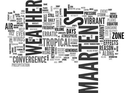 WEATHER IN ST MAARTEN TEXT WORD CLOUD CONCEPT