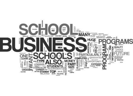 WHAT BUSINESS SCHOOL DO I GO TO TEXT WORD CLOUD CONCEPT