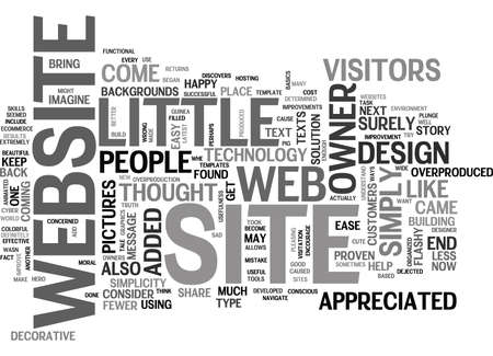 WEB DESIGN A TALE OF THE OVERPRODUCED TEXT WORD CLOUD CONCEPT