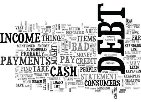 私はテキスト WORD クラウドの概念は債務の場合に、どうすれば  イラスト・ベクター素材