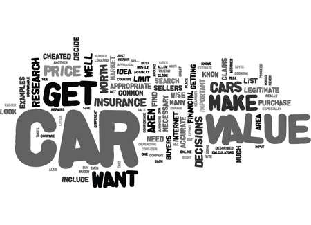 comparable: WHAT CAN I DO TO GET AN ACCURATE CAR VALUE TEXT WORD CLOUD CONCEPT