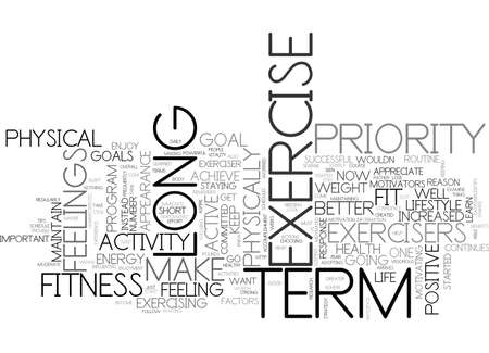 WHAT CAN WE LEARN FROM LONG TERM EXERCISERS TEXT WORD CLOUD CONCEPT