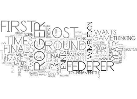 WHAT CAN YOU LEARN FROM ROGER FEDERER TEXT WORD CLOUD CONCEPT