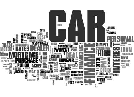 WHAT CAR FINANCE DEAL SHOULD YOU CHOOSE TEXT WORD CLOUD CONCEPT