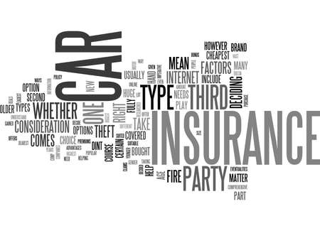 fully comprehensive: WHAT CAR INSURANCE IS THE RIGHT TYPE FOR YOU TEXT WORD CLOUD CONCEPT