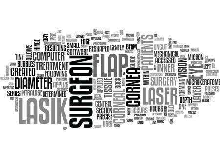 pulses: WHAT ARE THE LASIK PROCEDURES TEXT WORD CLOUD CONCEPT Illustration