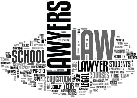 WHAT DOES IT TAKE TO BE A LAWYER TEXT WORD CLOUD CONCEPT
