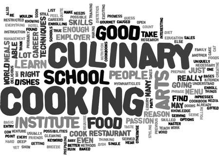 WHAT DOES IT TAKE TO BE IN CULINARY ARTS TEXT WORD CLOUD CONCEPT Illustration