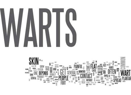 WHAT ARE WARTS TEXT WORD CLOUD CONCEPT
