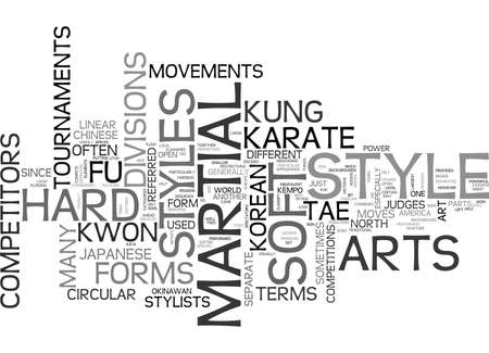 kwon: WHAT ART HARD STYLE AND SOFT STYLE MARTIAL ARTS TEXT WORD CLOUD CONCEPT