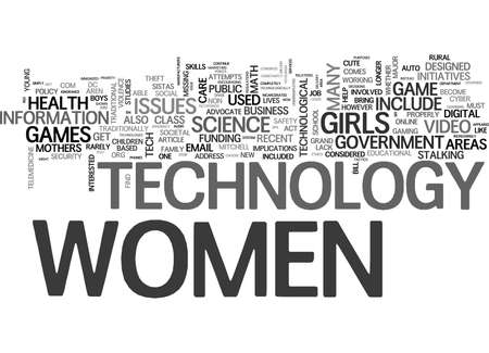 WHAT DOES TECH HAVE TO DO WITH WOMEN S RIGHTS TEXT WORD CLOUD CONCEPT