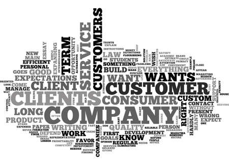 WHAT DOES THE CONSUMER WANT TEXT WORD CLOUD CONCEPT