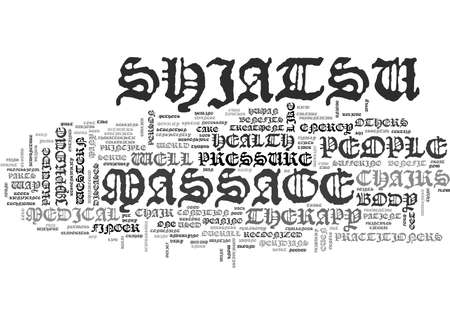 WHAT BENEFITS CAN YOU GET FROM SHIATSU MASSAGE CHAIR TEXT WORD CLOUD CONCEPT