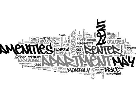 comparable: WHAT DOES THE RENT INCLUDE TEXT WORD CLOUD CONCEPT Illustration