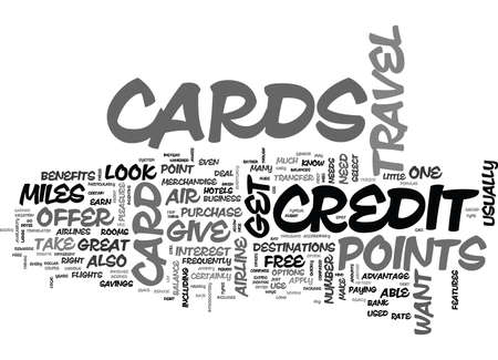 WHAT BENEFITS DOES A TRAVEL CREDIT CARD OFFER TEXT WORD CLOUD CONCEPT Иллюстрация