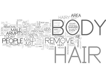 WHAT BODY HAIR DO YOU REMOVE TEXT WORD CLOUD CONCEPT Illusztráció