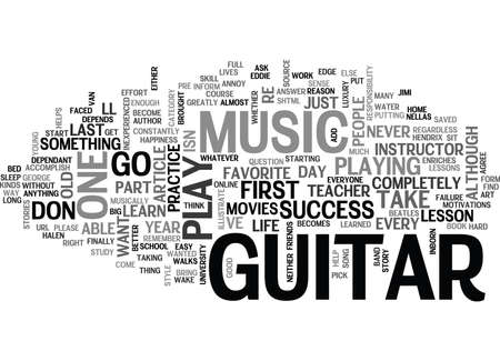 WHY PLAY GUITAR TEXT WORD CLOUD CONCEPT