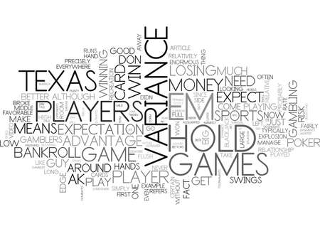 WHY PLAY TEXAS HOLD EM TEXT WORD CLOUD CONCEPT
