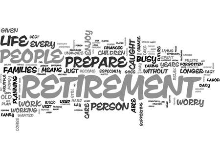 WHY PREPARE FOR RETIREMENT TEXT WORD CLOUD CONCEPT