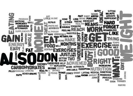 WHAT CAN WOMEN DO TO GAIN WEIGHT TEXT WORD CLOUD CONCEPT