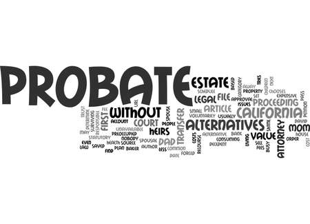 WHY PROBATE TEXT WORD CLOUD CONCEPT