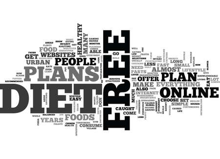 WHAT COMES WITH FREE DIET PLANS TEXT WORD CLOUD CONCEPT