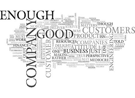WHY QUOT GOOD ENOUGH QUOT ISN T TEXT WORD CLOUD CONCEPT