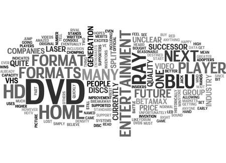 blu ray: WHAT DOES THE FUTURE HAVE IN STORE FOR HOME ENTERTAINMENT SYSTEMS TEXT WORD CLOUD CONCEPT