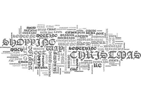 WHAT DOES THE WAY YOU SHOP FOR CHRISTMAS PRESENTS SAY ABOUT YOU TEXT WORD CLOUD CONCEPT Ilustração