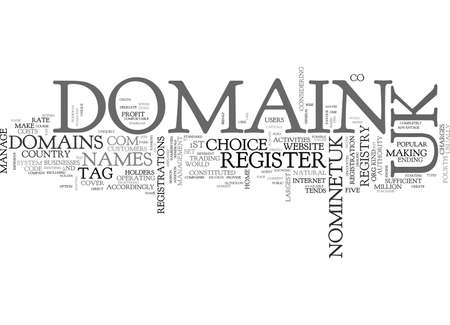 domains: WHY REGISTER UK DOMAINS TEXT WORD CLOUD CONCEPT Illustration