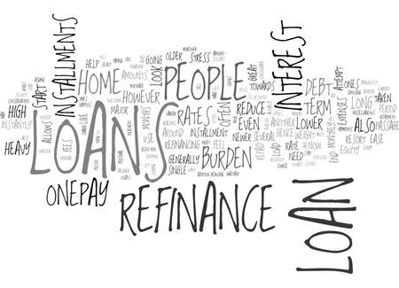 WHY RESORT TO A REFINANCE LOAN TEXT WORD CLOUD CONCEPT