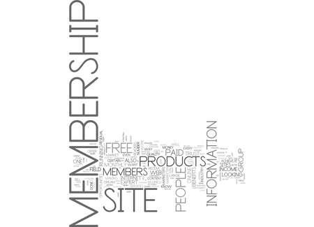 WHY RUN A MEMBERSHIP WEB SITE TEXT WORD CLOUD CONCEPT Illusztráció