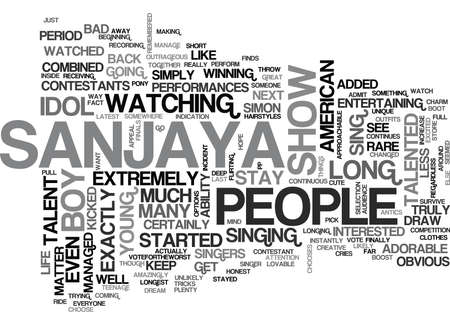 WHY SANJAYA STAYED SO LONG TEXT WORD CLOUD CONCEPT Illustration