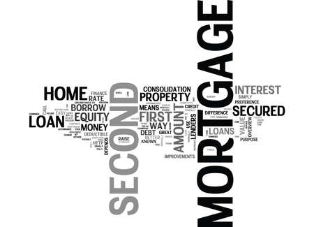 WHY SECOND MORTGAGE TEXT WORD CLOUD CONCEPT