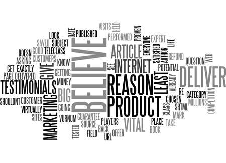 WHY SHOULD I BELIEVE YOU TEXT WORD CLOUD CONCEPT