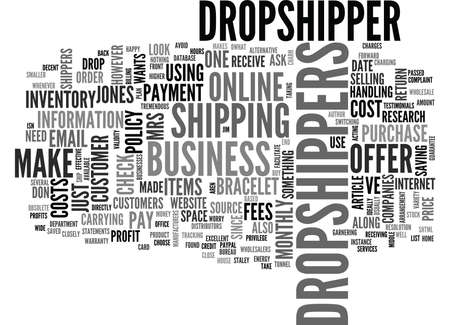 WHY SHOULD I USE DROP SHIPPERS TEXT WORD CLOUD CONCEPT