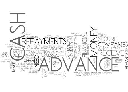 dire: WHY SHOULD YOU APPLY FOR A CASH ADVANCE TEXT WORD CLOUD CONCEPT Illustration
