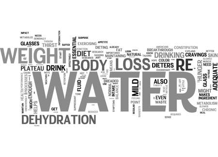 knew: WHO KNEW WATER WOULD HAVE THIS EFFECT FOR DIETERS TEXT WORD CLOUD CONCEPT